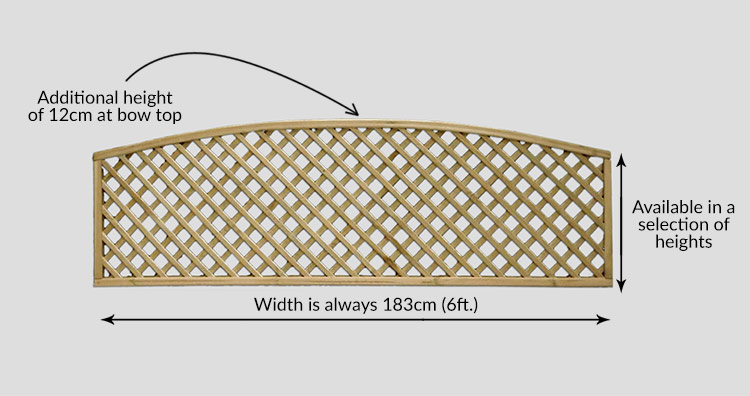 Curved Diamond Lattice Fence Trellis