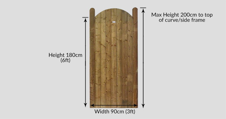Curved Pennine Elite Plus T&G Gate