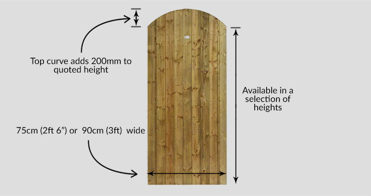 Curved Pennine Elite T&G Garden gate