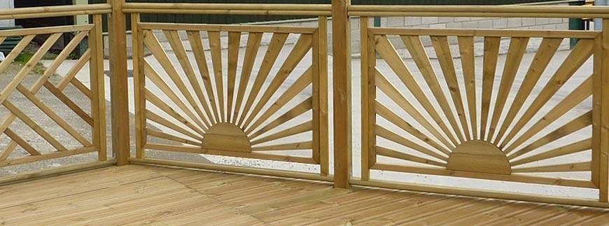 decking fence panels