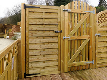 Continental and Picket Gates in our outside display areas