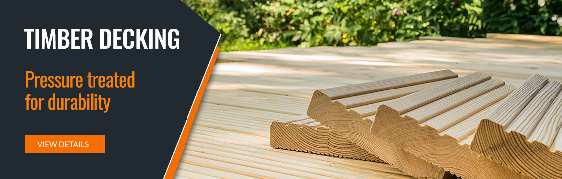 Timber Decking - Pressure treated for durability