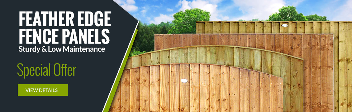 Feather Edge Fence Panels - Sturdy & Low Maintenance