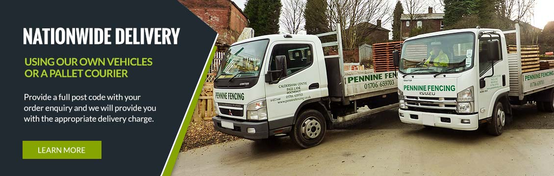 Nationwide Delivery using our own vehicles or a Pallet Courier
