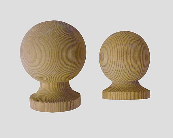 Ball Timber Finials - Timber Ball Finials