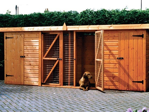 Dog Kennels Double Kennel And Run Pennine Fencing Amp Landscaping