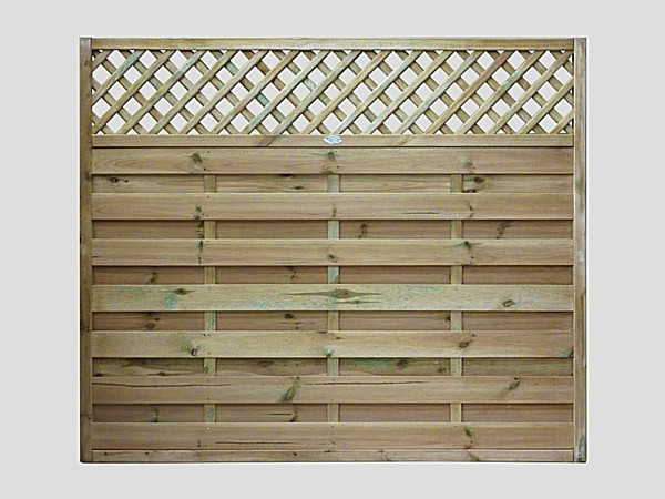 Continental Fence Panels Pennine Horizontal Lattice Top