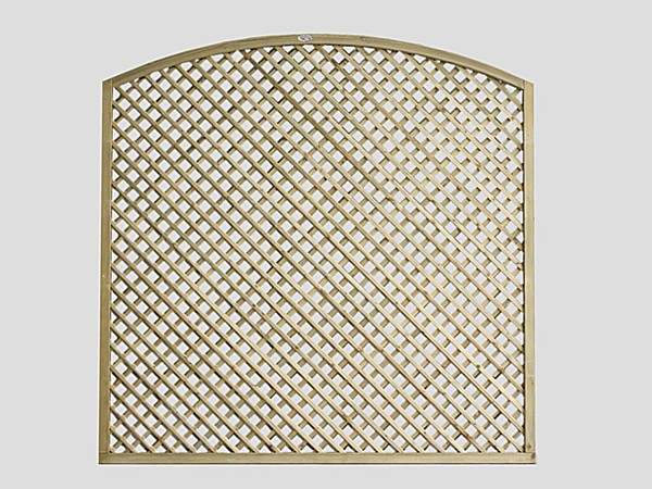 Large Curved Pennine Diamond Lattice Trellis Panel