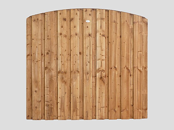 Traditional Garden Fence Panels Tanalized Brown Curved