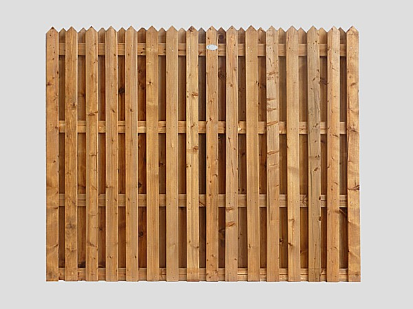 Traditional Garden Fence Panels Double Sided Pointed Top