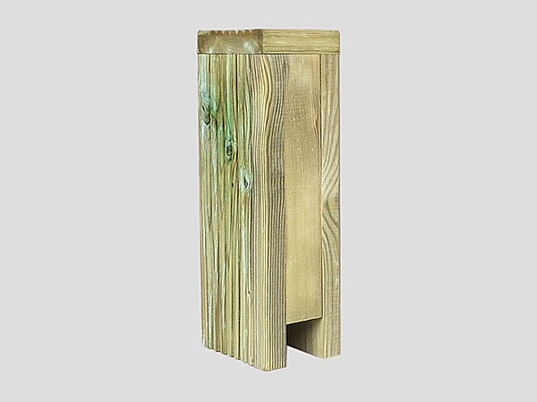 Tanalized Green Fence Post Extension - U Profile