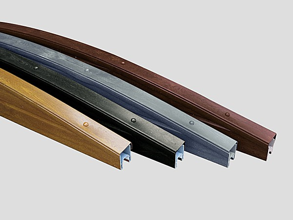 Woodgrain (Plastic) PVC Gravel Board Curved Top Section - Curved Woodgrain PVC Top Section