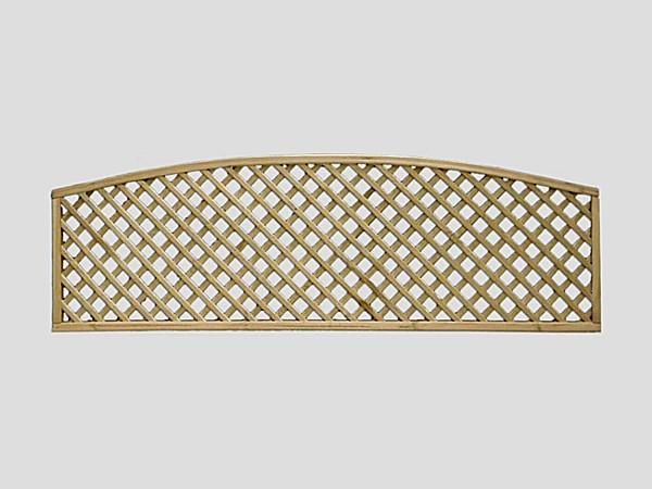 Curved Diamond Lattice Fence Trellis - Curved Diamond Lattice Trellis