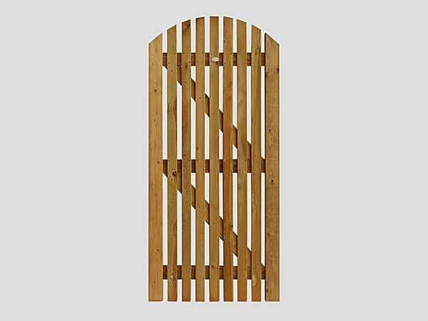 Pennine Curved Picket Gate - Front of Pennine Curved Picket Gate