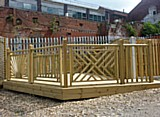 Classic Decking Hand / Base Rail - Decking Display View 2