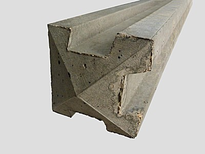 Concrete Three-Way Fence Posts