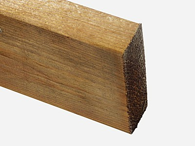 Timber Gravel Board - Tanalized Brown - Cross Section of Tanalzied brown Timber Gravel Board