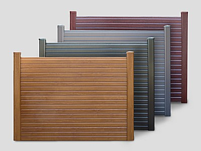 Woodgrain PVC Gravel Board Panel - Woodgrain PVC as fence panel