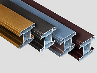 Woodgrain PVC (Plastic) Inter Fence Post