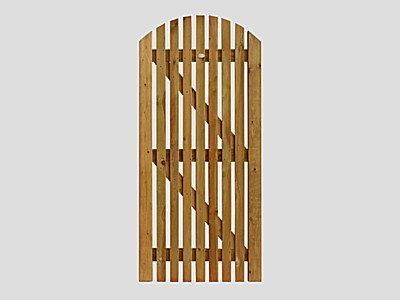 Pennine Curved Picket Gate