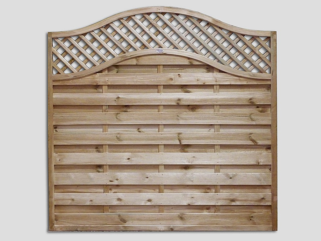 Garden fencing continental fence panels pennine fencing pennine omega lattice top panel baanklon Image collections
