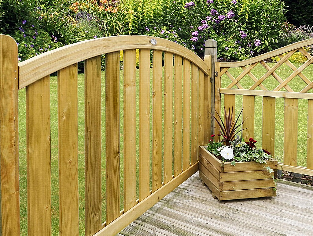 Timber Deck Panels Boundary Arched Top Deck Panel