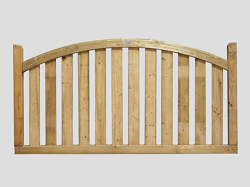 Timber deck panels boundary arched top panel