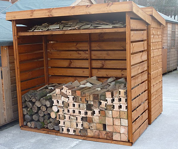 Tool And Log Storage Sheds Vented Log Store Pennine