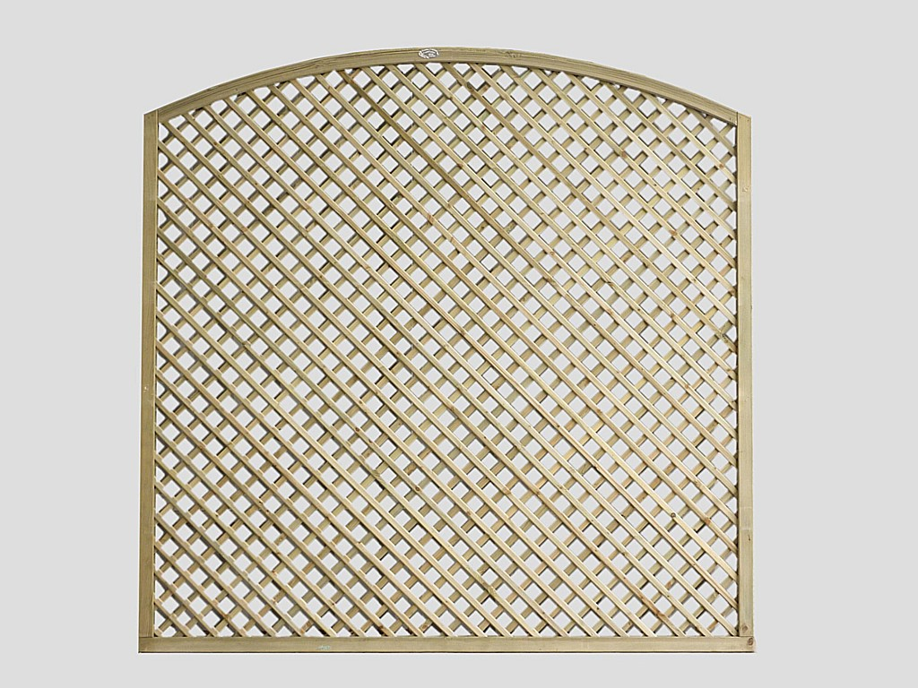 Continental Trellis Curved Diamond Lattice Trellis Fence