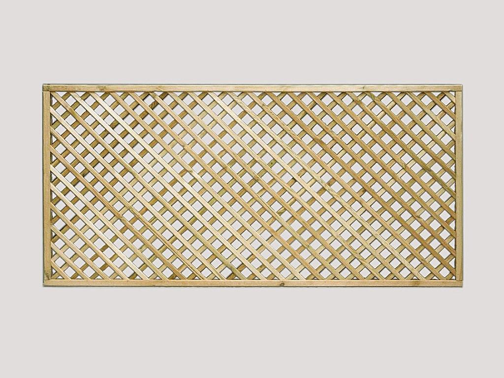 Garden fencing continental trellis pennine fencing landscaping diamond lattice fence trellis baanklon Gallery