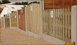 Pennine Fencing's extensive display and stock yard.