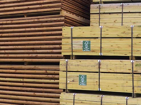 Pressure Treated Timber in our Warehouse