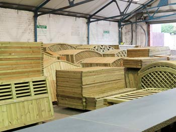Continental Fence Panels, Gates and Trellis in our Warehouse Storage Facility