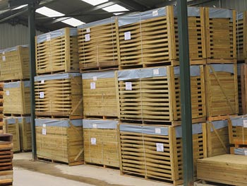 Continental Fence Panels and Gates in our Warehouse Storage Facility