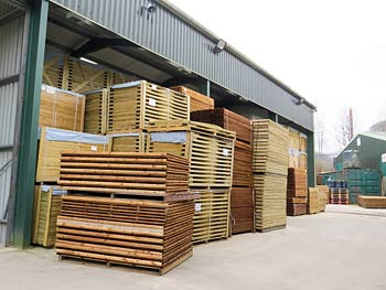 Continental and Traditional Fence Panels in our Warehouse Storage Facility