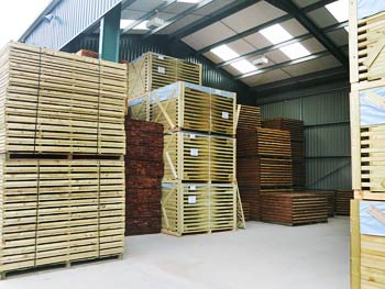 Continental and Traditional Fence Panels in our Warehouse