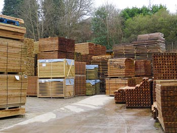 Timber Posts and Fence Panels in our Yard Facility